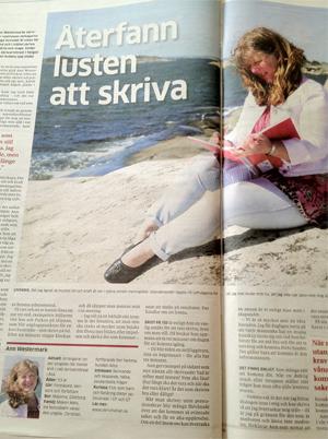 Göteborgs-Posten 17 maj 2013. Artikel om mitt arbete med skrivande som friskvård, av frilansjournalist Lisbeth Hedberg.